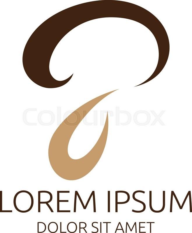stylish mushroom symbol or logo template eps 10 vector illustration