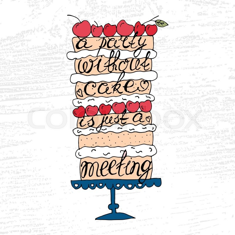 Goldcorp Stock Quote: Cake With Hand Drawn Typography ...