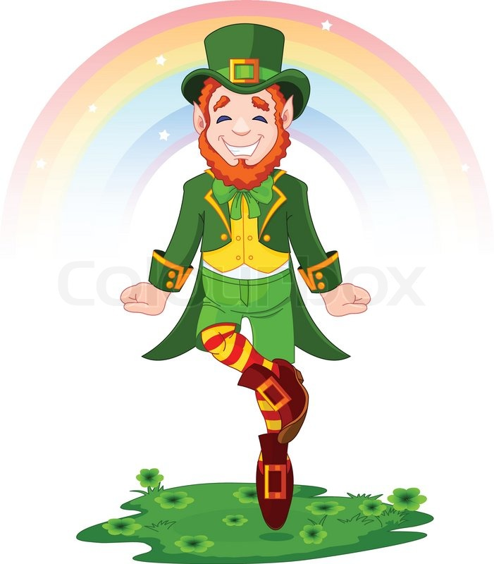 Full length drawing of a leprechaun dancing a jig for st patricks full length drawing of a leprechaun dancing a jig for st patricks day stock vector colourbox thecheapjerseys Images