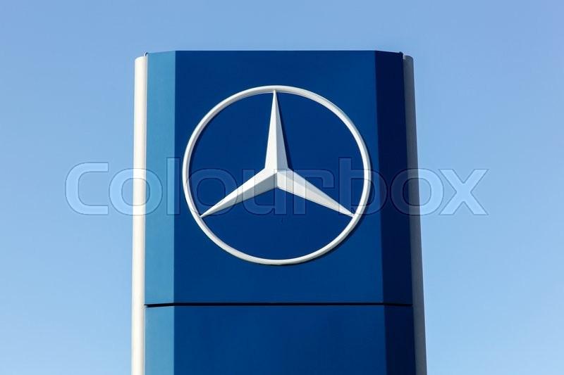 mercedes logo on a facade mercedes benz is a german automobile