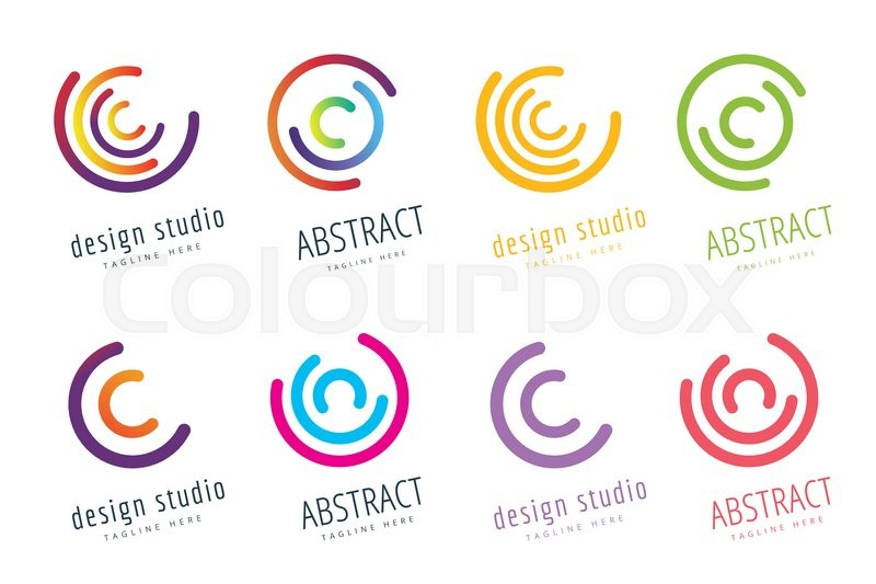 vector circle ring logo set abstract stock vector colourbox vector circle ring logo set abstract