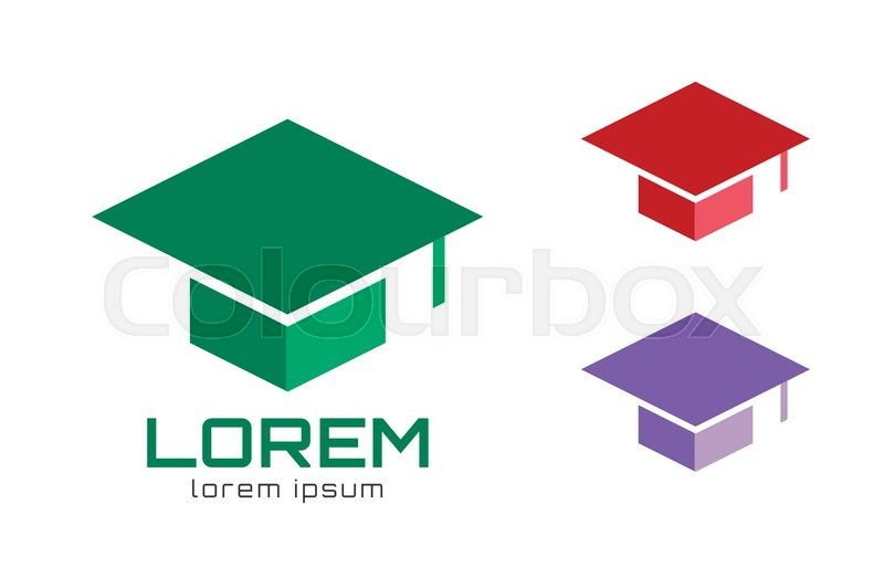 graduation cap logo icon template graduation hat college rh colourbox com graduation cap logo svg graduation cap logo png