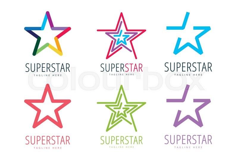 Star Vector Logo Icon Template Set Leader Boss Winner Rank Or