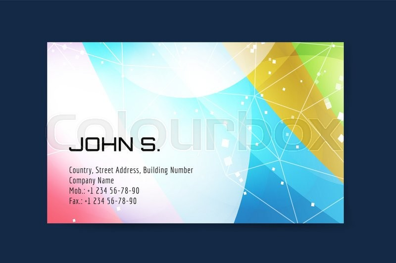 Stock Vector Of Business Card Template Globe And Ring Logo Icons Abstract