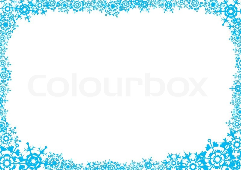 snowflakes a white background for a card letter a vector
