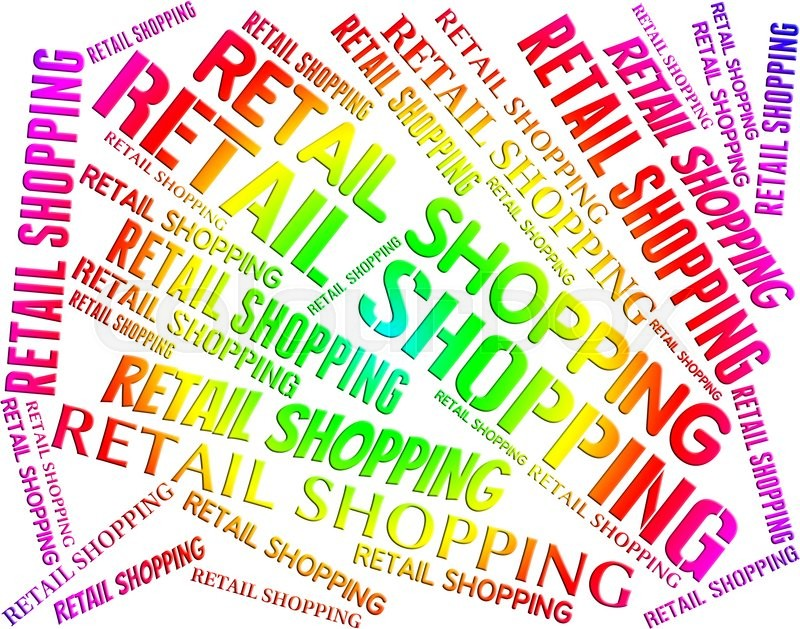 Retail Shopping Represents Commercial Activity And Commerce, stock photo