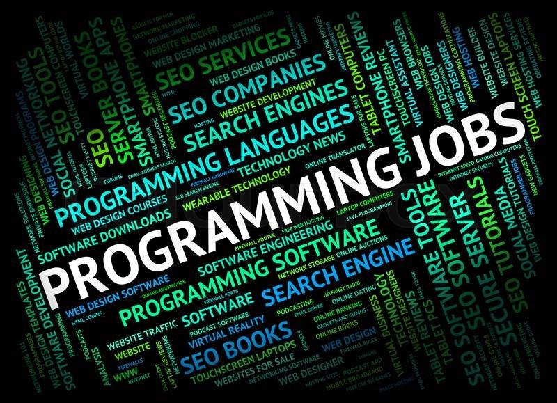 Programming Jobs Represents Software Stock Image Colourbox