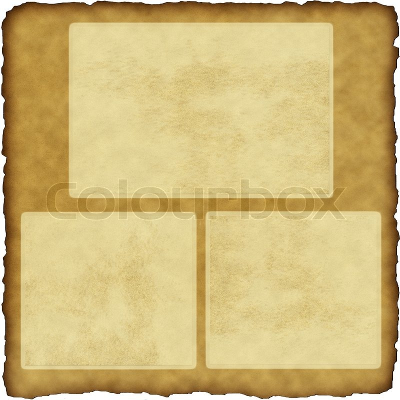 Vintage scrapbook old paper with frames | Stock Photo | Colourbox