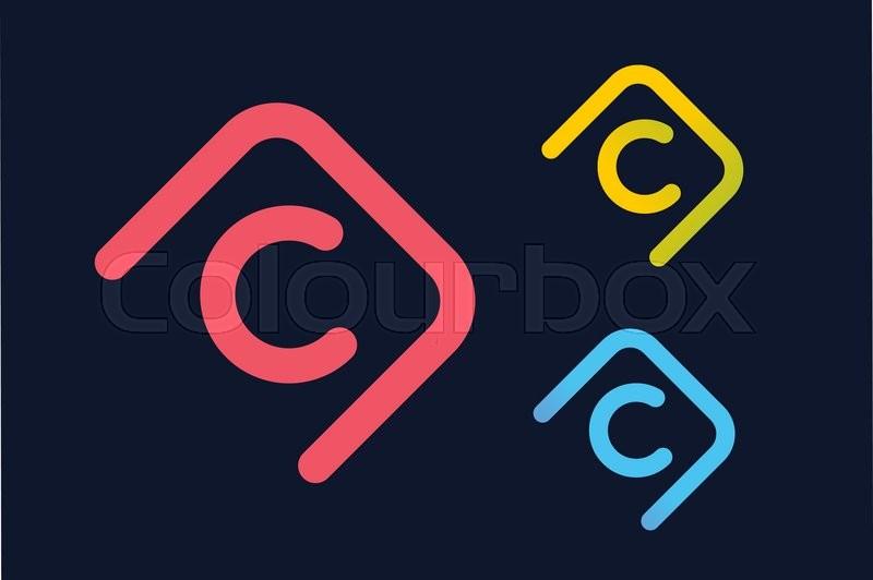 Vector C Letter Logo Circle Ring Logo Design Abstract Flow Logo