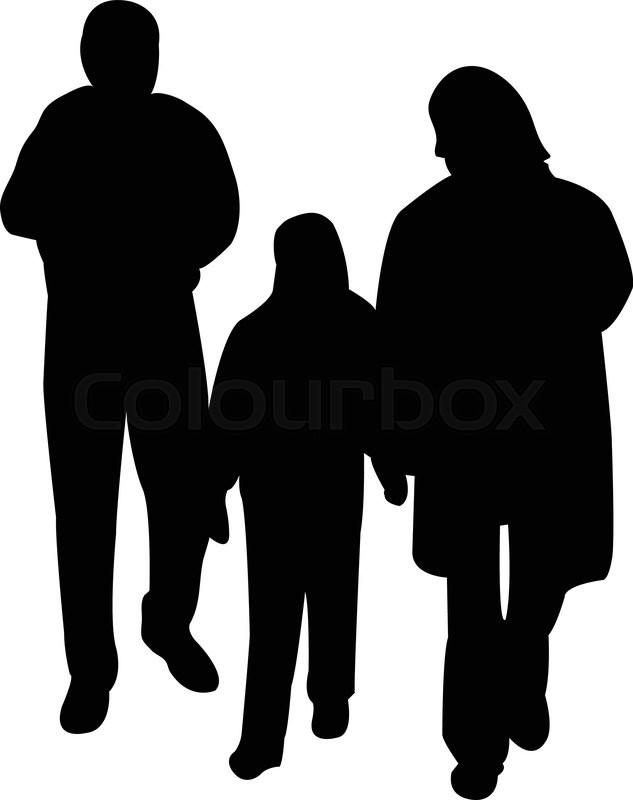 illustration of family silhouette vector stock vector colourbox rh colourbox com family silhouette vector free family silhouette vector free