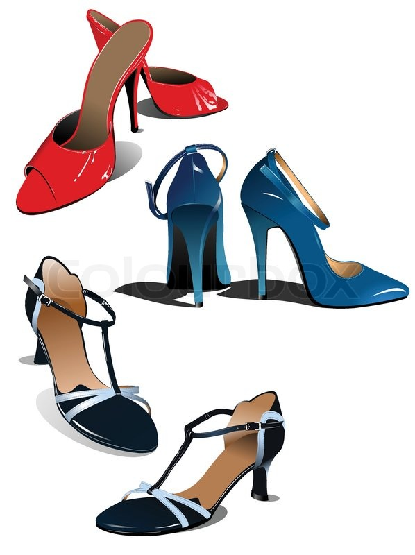 Pairs Of Fashion Woman Shoes Vector Illustration Vector Colourbox on Fashion Woman Vector Illustration