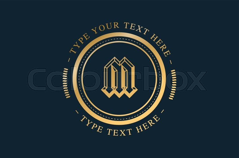 Vintage Old Style Logo Icon Template Vintage Retro Style M Letter