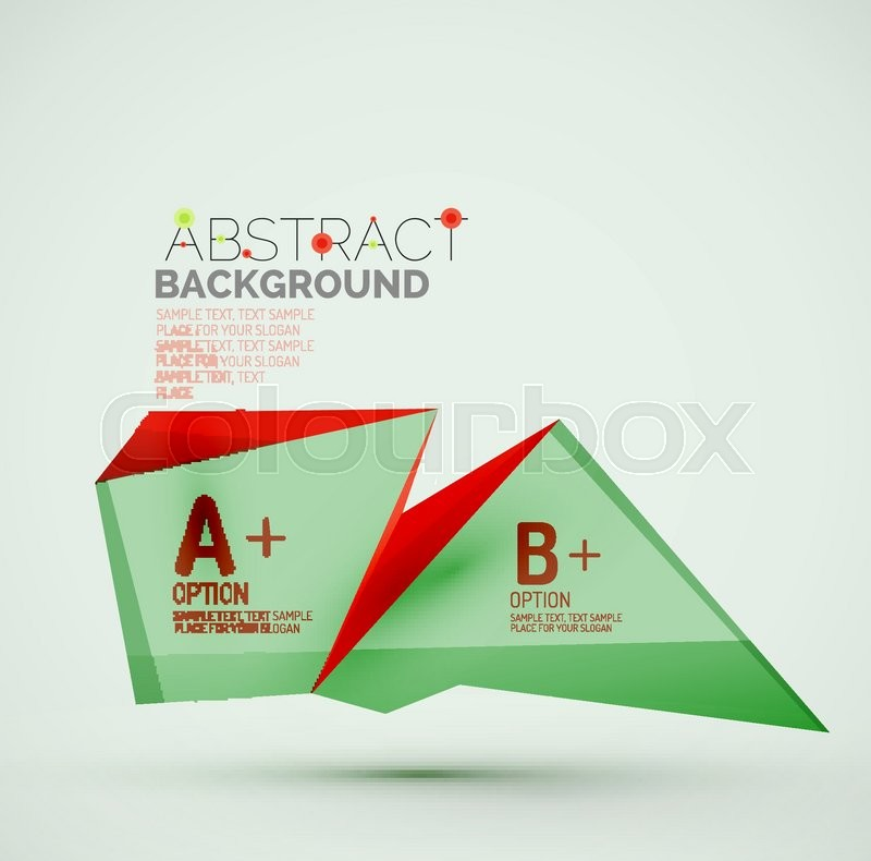 3d geometric shapes with sample text      | Stock vector