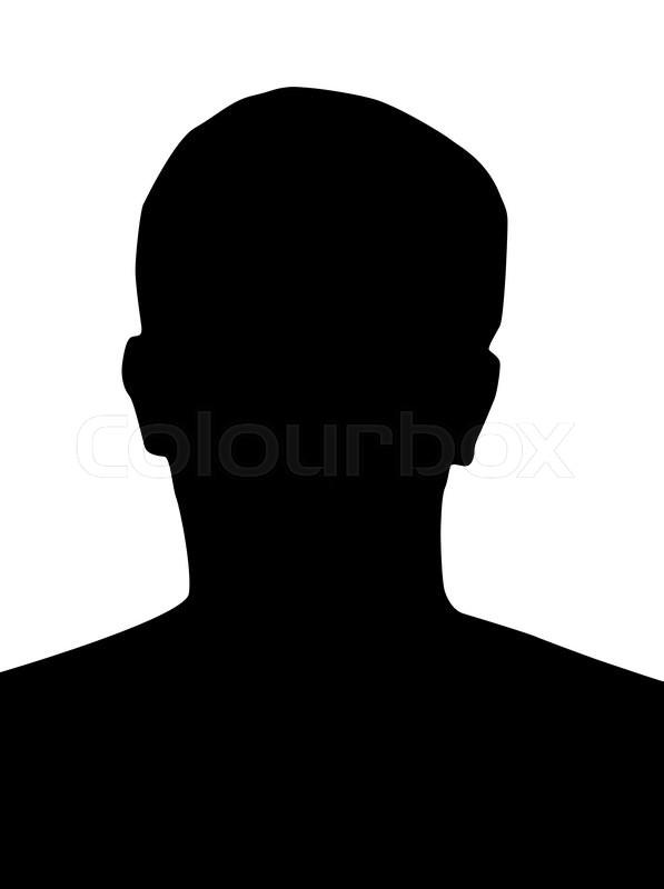 profile picture silhouette  man head  black  on white background stock vector colourbox Emperor Nero Put On a Blank CD Nero 6