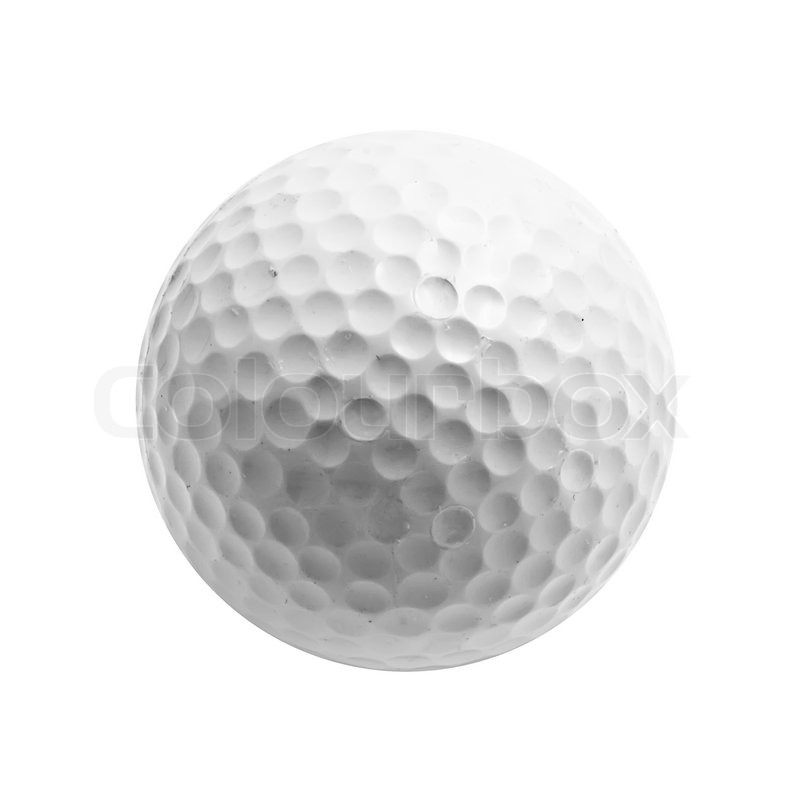 Golf ball isolated on white background | Stock Photo | Colourbox