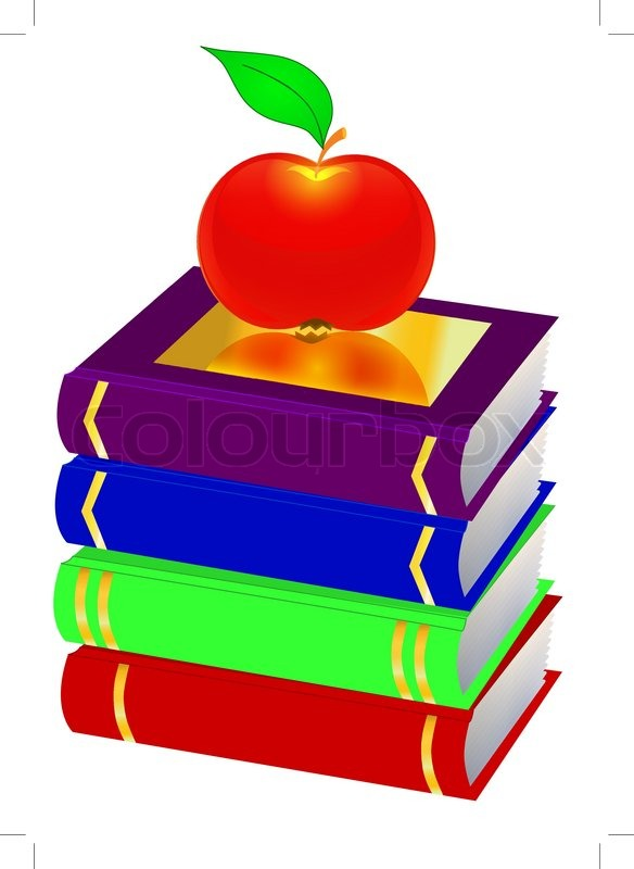 illustration pile books and apple are insulated on white bookworm clipart coloring page bookworm clipart with no background