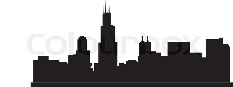 chicago skyline stock vector colourbox rh colourbox com chicago skyline vector download chicago city skyline vector