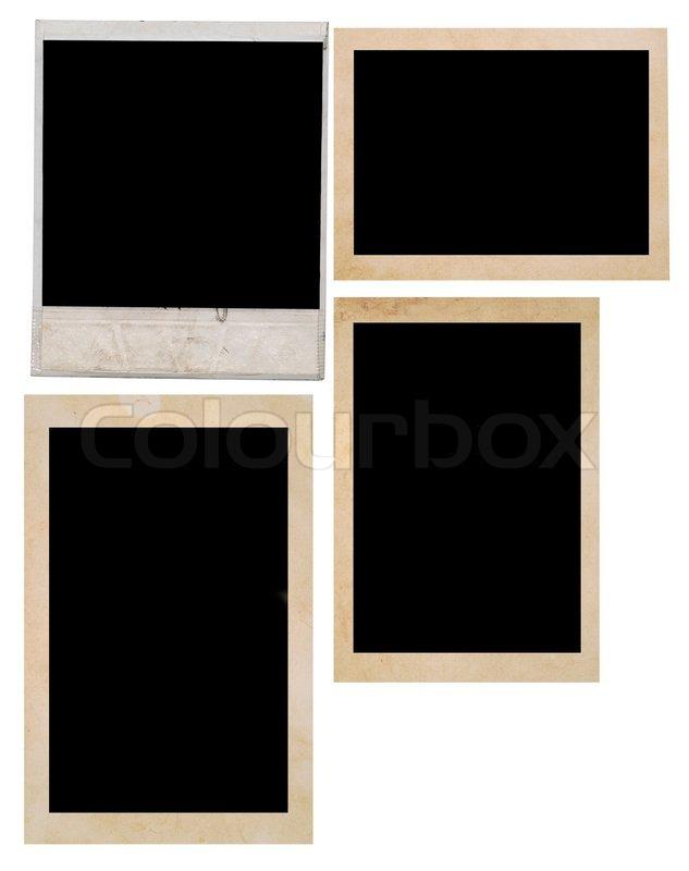 Polaroid and photo frame on white background | Stock Photo | Colourbox