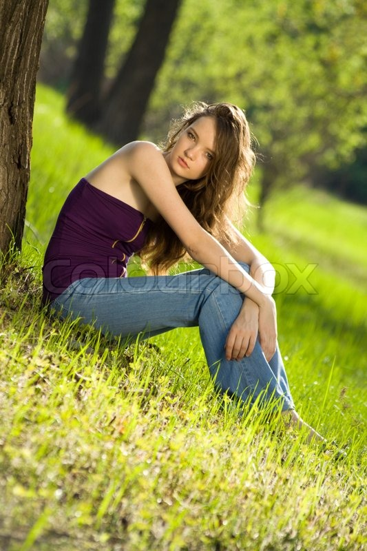 Beautiful Teen Girl: Beautiful Teen Girl In Forest