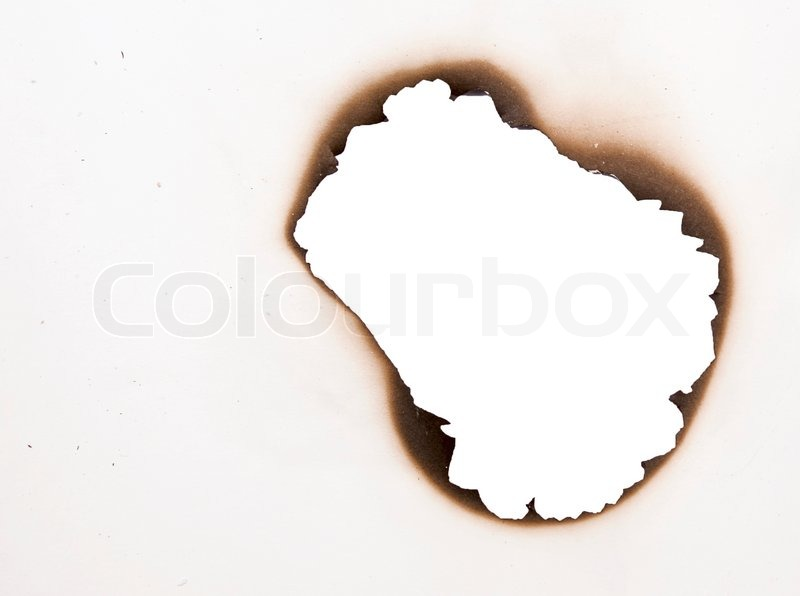 Burnt paper hole stock photos and images   alamy.com