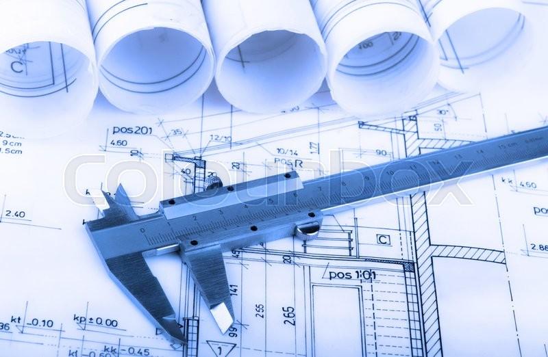 Architecture rolls architectural plans project architect
