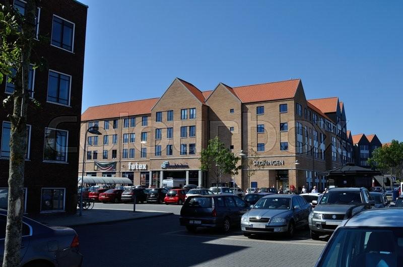 Føtex, Havnearkaderne og Skoringen ved ... | Stock foto | Colourbox