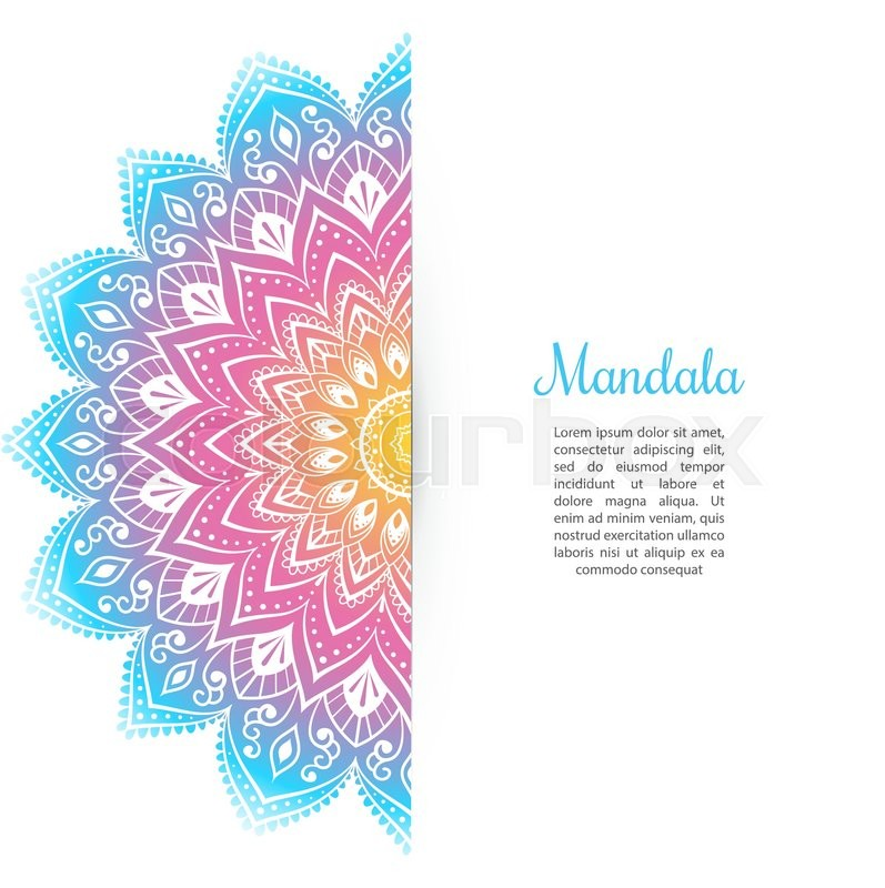 vector illustration of color mandala background template stock