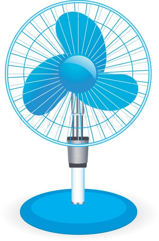 Box Fan Clip Art : Table fan vector illustration stock colourbox
