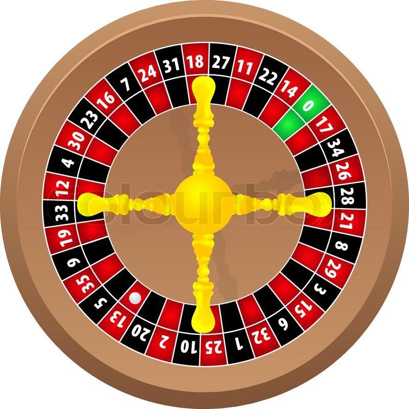 Casino hjul spil, vektor
