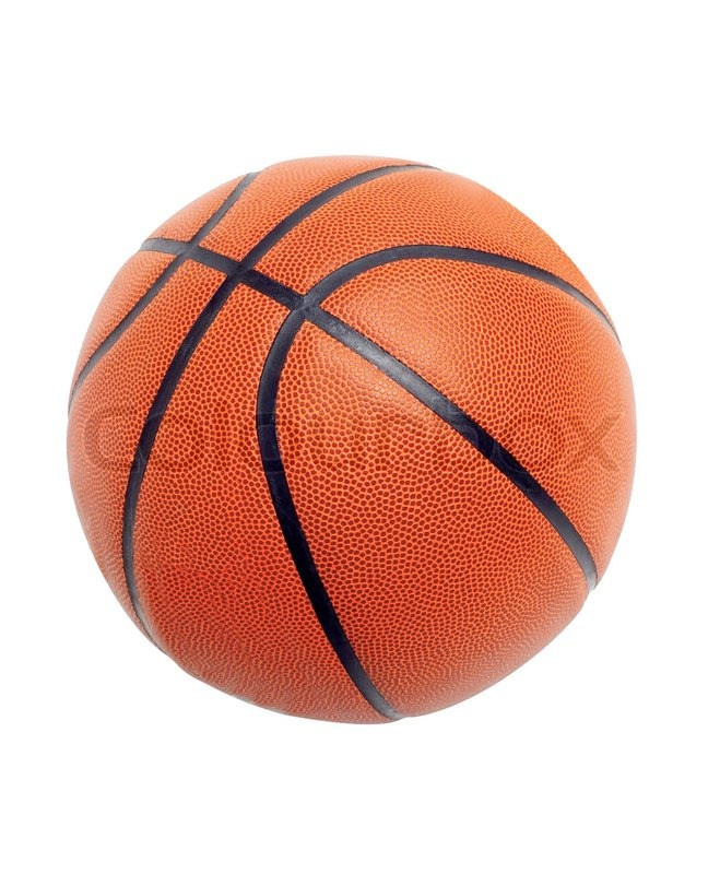 ball for basketball of orange colour isolated on white background