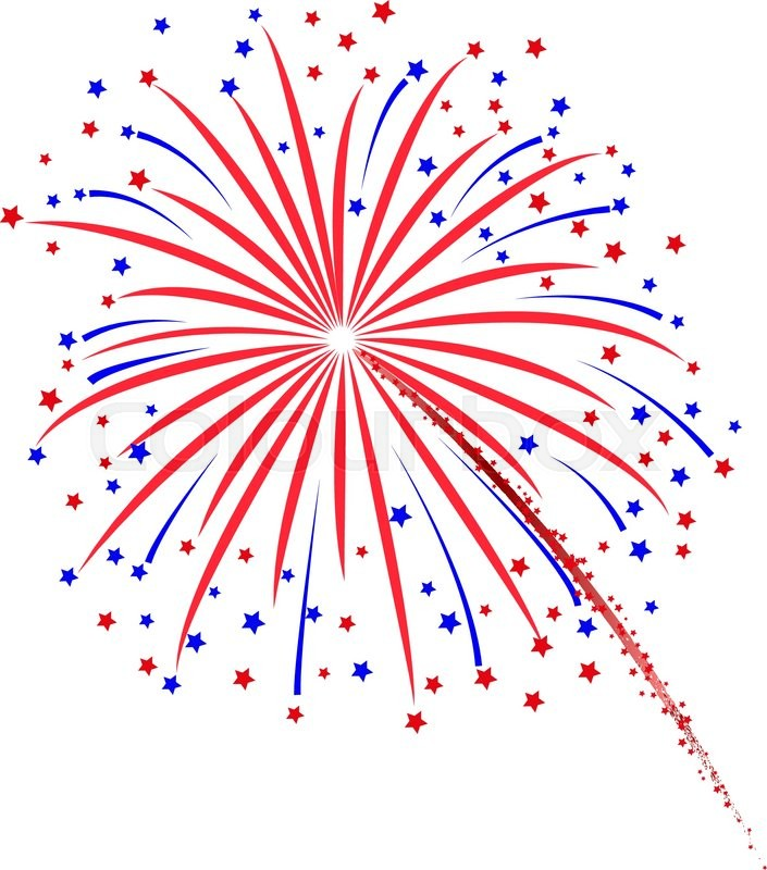 Firework design on white background. vector illustration ...