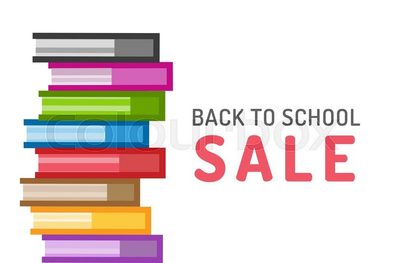 School Book Cover Vector : Books vector logo icons set sale background book