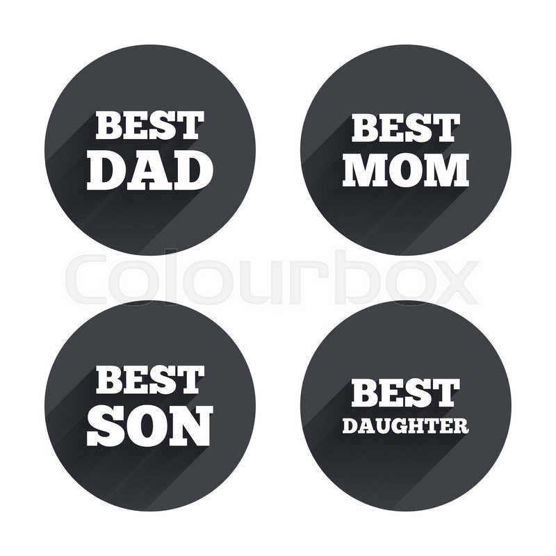 Best Mom And Dad Son And Daughter Icons Award Symbols Circles