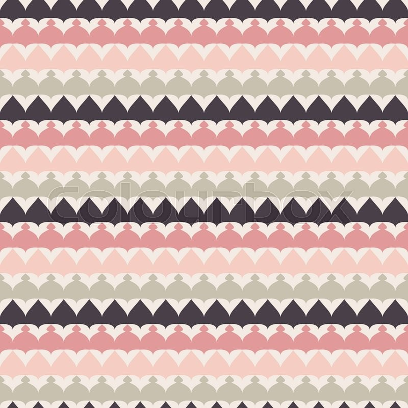 Cute Retro Abstract Stripe Seamless Pattern Illustration For Ethnic Tribal Design Can Be Used Wallpaper Cover Fills Web Page Background
