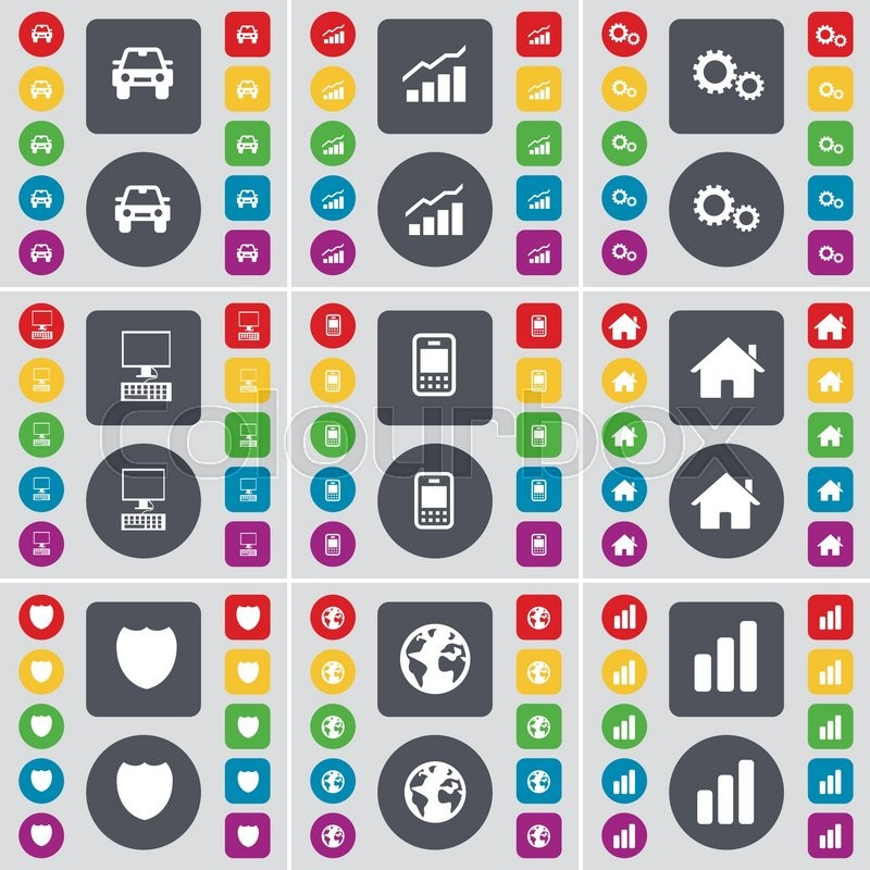 car graph gear pc mobile phone house badge earth diagram rh colourbox com