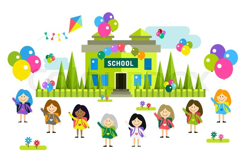 Back To School Background Cute Vector Stock Vector Colourbox