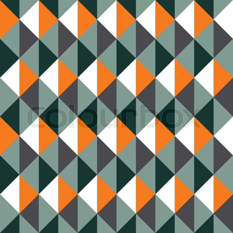 Geometric Vector Pattern In Retro Style Abstract Trendy