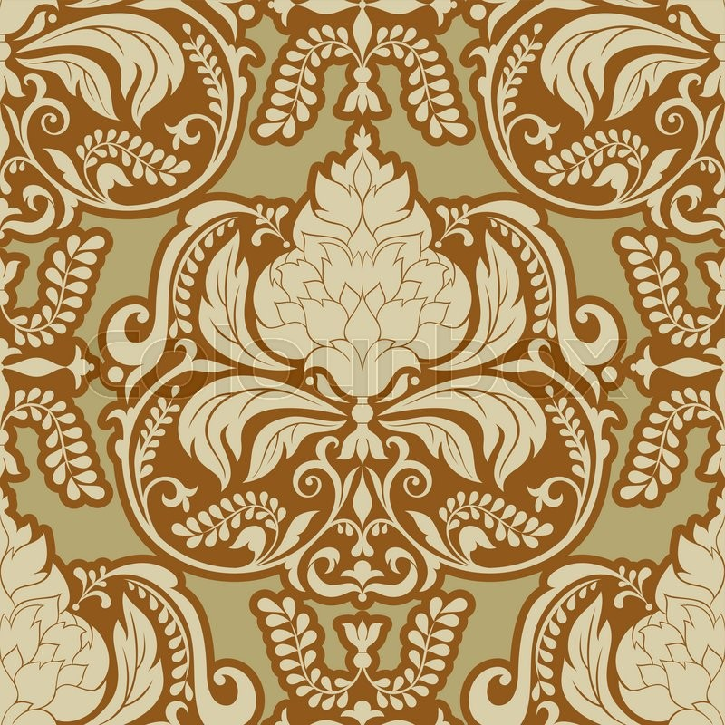 vector damask pattern design royal ornamental background rich old