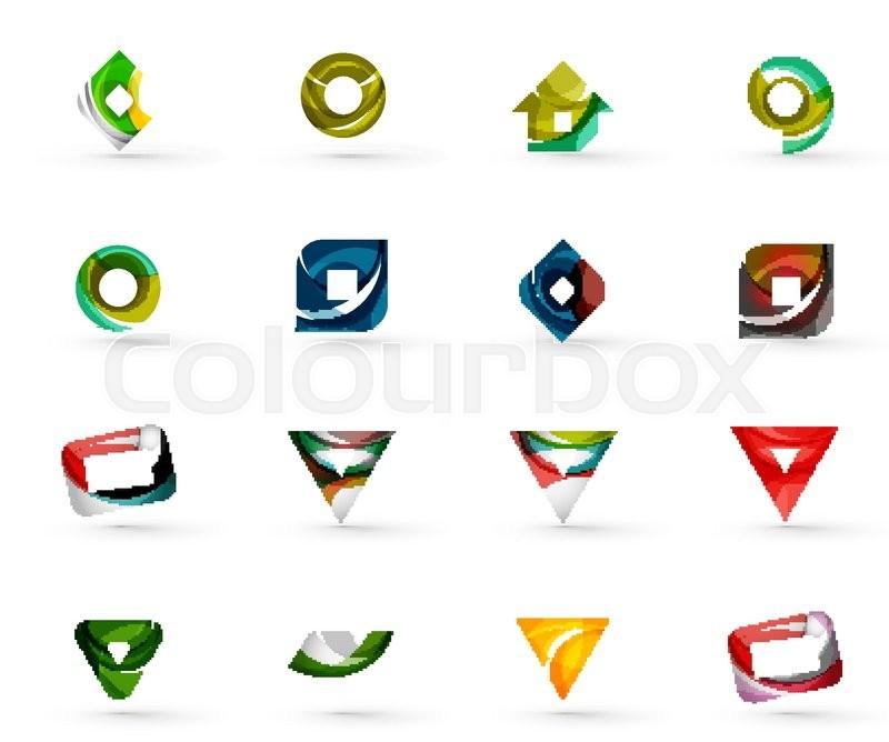 Set Of Various Geometric Icons - ...