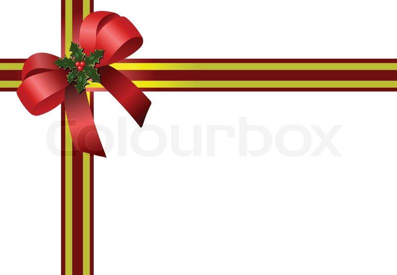 weihnachten roter schleife vektorgrafik colourbox. Black Bedroom Furniture Sets. Home Design Ideas