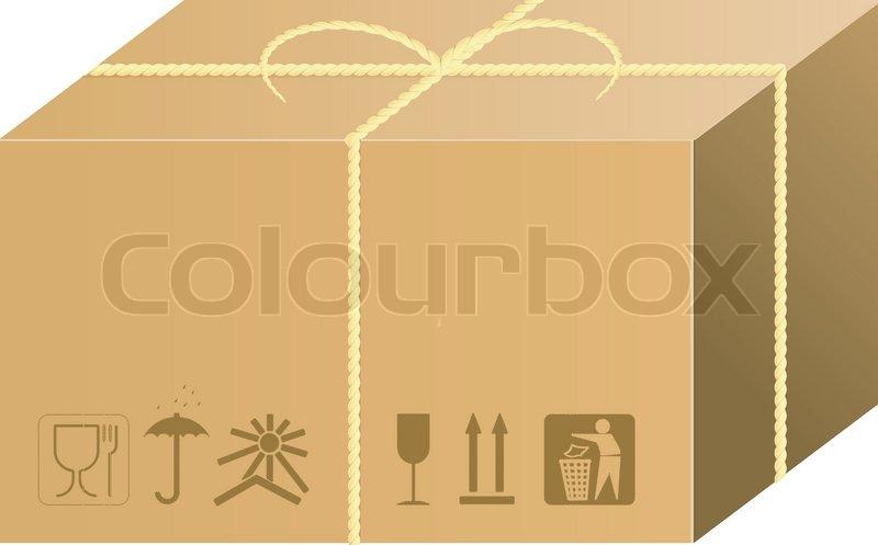 Shipping box vector   Stock Vector   Colourbox