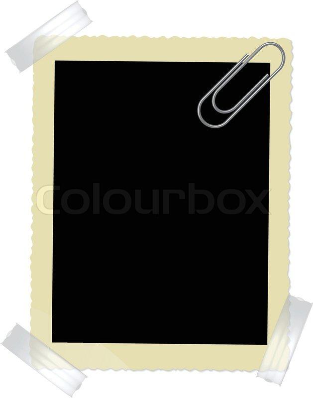 alte bilderrahmen mit b roklammer vektorgrafik colourbox. Black Bedroom Furniture Sets. Home Design Ideas