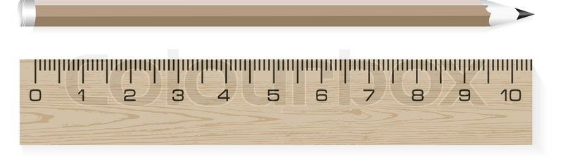 Drawing Lines With A Ruler Ks : Vector wooden ruler and pencils stock colourbox