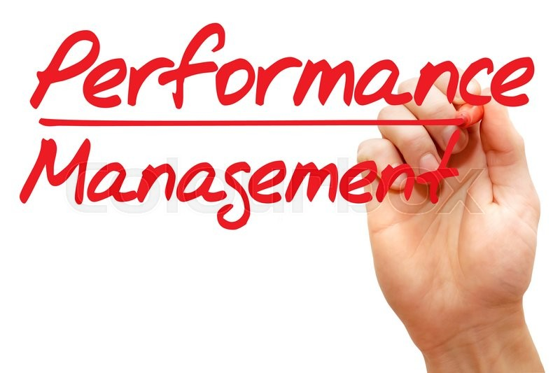 Hand writing Performance Management with red marker, business concept , stock photo
