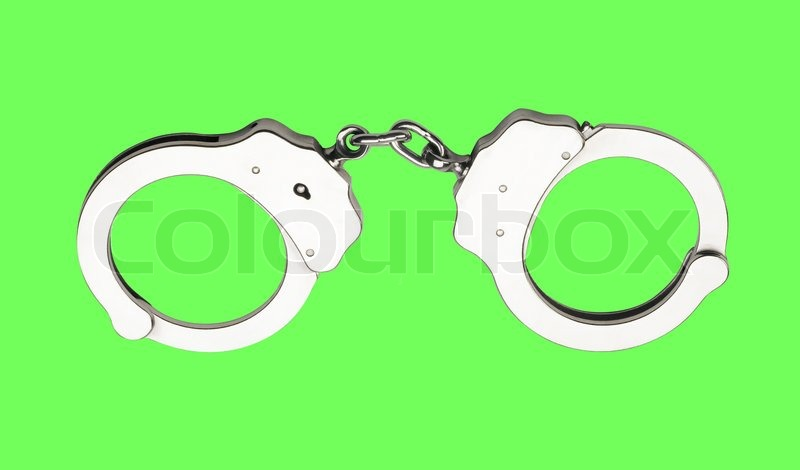 The Cannabis Leaf And Handcuffs Stock Photo, Picture And Royalty ...