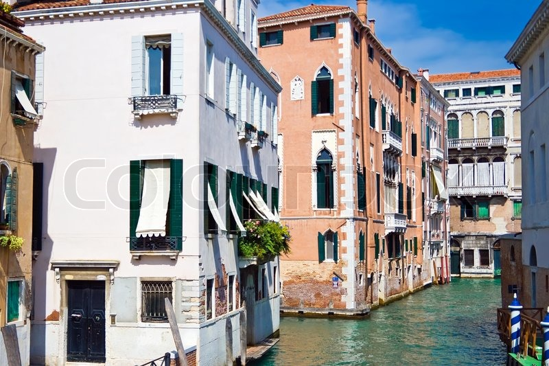 Häuser Italien nizza venezianischen kanal und alte häuser venedig italien