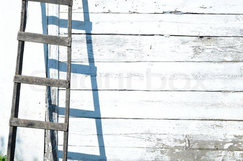 Alte Holzerne Treppe Im Hintergrund Mit Stock Bild Colourbox