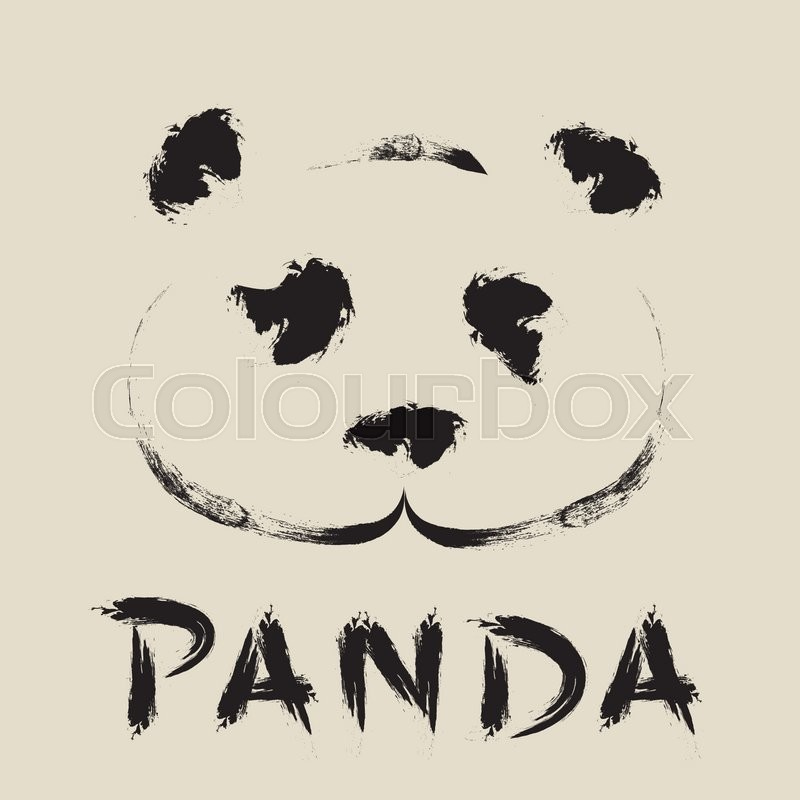 Vector Graphic Drawing Panda Face Stock Vector Colourbox