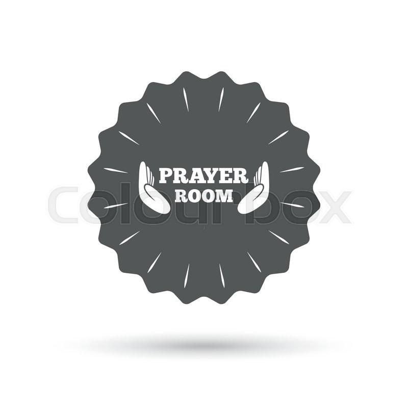 Vintage Emblem Medal Prayer Room Sign Icon Religion Priest Faith