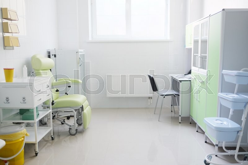 Interior of a doctor office, stock photo